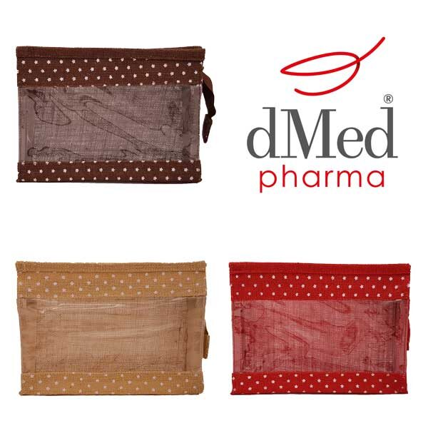 Astuccio juta in 3 colori + dMed Pharma