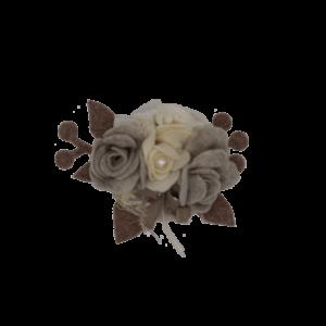 Coccarda fiore bianco